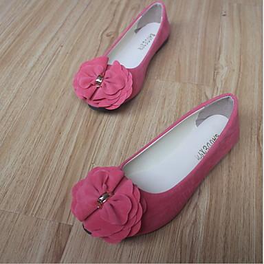 Kadın's Düz Ayakkabılar Düz Taban Yuvarlak Uçlu Saten Çiçek Süet Yaz Siyah / Şarap / Beyaz