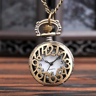 baratos Relógio de Bolso-Homens Relógio de Bolso Quartzo Estilo vintage Bronze Relógio Casual Legal Analógico-Digital Vintage - Bronze