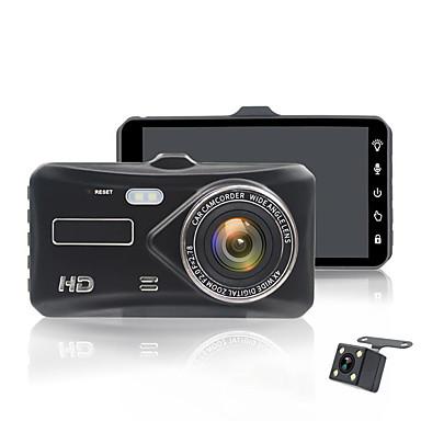 billige Bil-DVR-4,0-tommers ips berøringsskjerm kjøretøyopptaker full hd 1080p dobbeltobjektiv reverseringskamera
