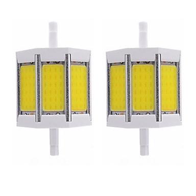 abordables Ampoules électriques-2pcs 10 W Tubes Fluorescents 1000 lm R7S T 1 Perles LED COB Design nouveau Blanc Chaud Blanc 85-265 V