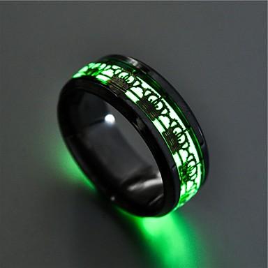 voordelige Dames Sieraden-Heren Dames Ring Lichtgevende steen 1pc Goud Zilver Roestvast staal Cirkelvormig Vintage Standaard Modieus Lahja Sieraden Kroon