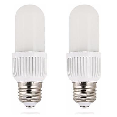 abordables Ampoules électriques-2pcs 6 W Ampoules Maïs LED 600 lm E26 / E27 T 20 Perles LED SMD 2835 Design nouveau Blanc Chaud Blanc 200-240 V