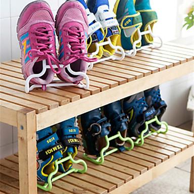 abordables Accessoires pour Chaussures-Cintre & Range Chaussures Plastique 2 paires Unisexe Bleu