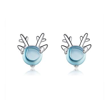 voordelige Dames Sieraden-kristal steen herten oorknopjes voor meisjes partij accessoires 925 zilveren dieren gewei oorbel dame mode-sieraden