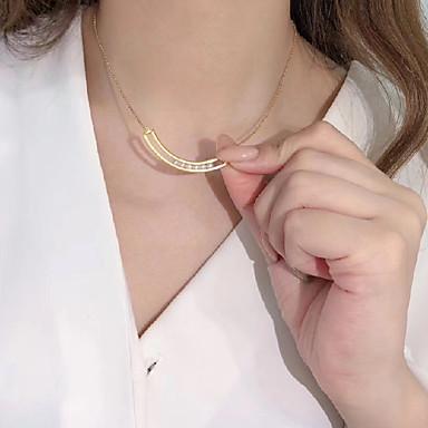 abordables Collier-Collier Femme Classique Perle S925 argent sterling Rire Dorée 45 cm Colliers Tendance Bijoux 1pc pour Cadeau Quotidien Promettre Festival