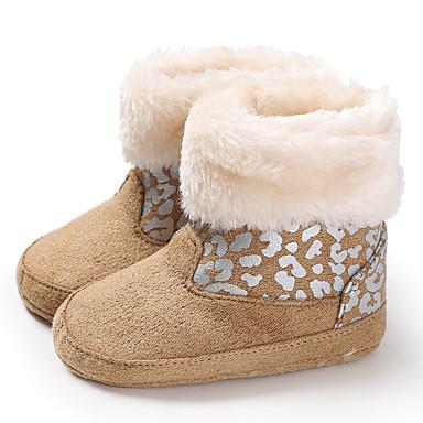 baratos Sapatos de Criança-Para Meninos / Para Meninas Algodão Botas Crianças (0-9m) / Criança (9m-4ys) Primeiros Passos Amêndoa / Fúcsia / Cinzento Inverno