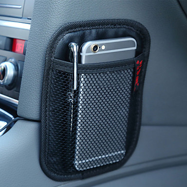voordelige Auto-interieur accessoires-auto-opslag microfiber leer zwart net zak zak organizer interieuraccessoires voor auto organizer