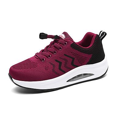 Kadın's Atletik Ayakkabılar Creepers Yuvarlak Uçlu Elastik Kumaş Sportif / Günlük Yürüyüş Sonbahar Kış Siyah / Açık Gri / Beyaz