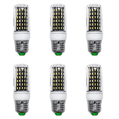 billige Elpærer-6pcs 12 W LED-kornpærer 1200 lm E14 G9 GU10 T 96 LED perler SMD 4014 Nytt Design Varm hvit Hvit 220-240 V 110-120 V