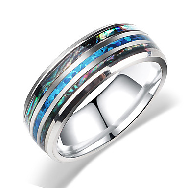 voordelige Herensieraden-Heren Dames Bandring Ring 1pc Zilver Roestvast staal puoliympyrä Bohémien Zoet leuke Style Club Sieraden