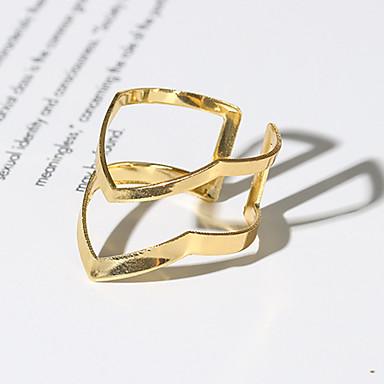 voordelige Dames Sieraden-Dames Ring Open Ring 1pc Goud Legering V-vormige Eenvoudig Vintage modieus Dagelijks Sieraden Vintagestijl Arrow