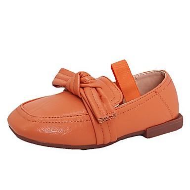 baratos Mocassins Infantis-Para Meninas Microfibra Mocassins e Slip-Ons Little Kids (4-7 anos) Sapatos para Daminhas de Honra Preto / Laranja / Bege Outono