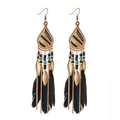 voordelige Dames Sieraden-Dames Oorbel Vintagestijl Veer Veer oorbellen Sieraden Zwart / Wit / Roze Voor Dagelijks 1 paar