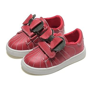 baratos Sapatos de Criança-Para Meninas Couro Tênis Little Kids (4-7 anos) Conforto Preto / Vermelho Outono