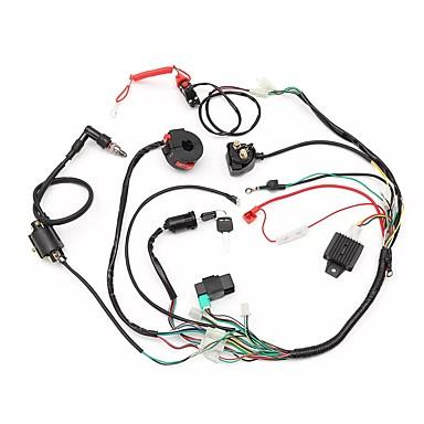 voordelige Automatisch Electronica-kabelboom weefgetouw solenoïde spoel gelijkrichter cdi 50cc 70cc 110cc 125cc atv quad bike kart