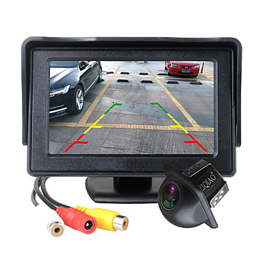 voordelige Automatisch Electronica-ziqiao 4,3 inch opvouwbare auto-monitor tft lcd-scherm camera's achteruitrijcamera parkeersysteem voor auto achteruitrijcamera's ntsc pal