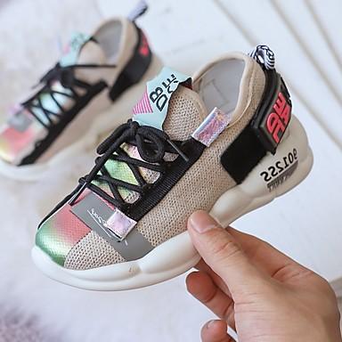 baratos Sapatos de Criança-Para Meninas Flyknit Tênis Little Kids (4-7 anos) Conforto Corrida Preto / Verde / Bege Outono