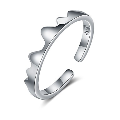 billige Motering-Par Parringer / Ring 1pc Svart / Sølv Kobber Sirkelformet Grunnleggende / Koreansk / Mote Gave / Love Kostyme smykker