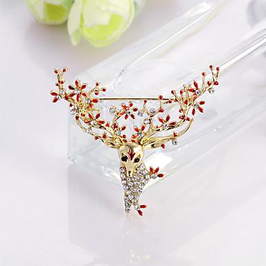 voordelige Dames Sieraden-Dames Broches Dier Modieus Broche Sieraden Rood Blauw Voor Kerstmis Lahja Dagelijks