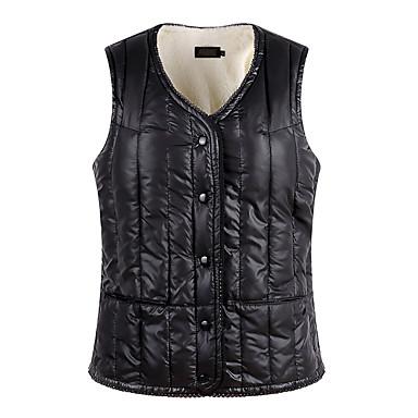 voordelige Nieuwe collectie-Dames Effen Vest, Polyester Zwart / Wijn / Blozend Roze M / L / XL