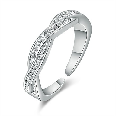 billige Motering-Dame Ring 1pc Rose Gull / Sølv Kobber Sirkelformet Grunnleggende / Koreansk / Mote Gave Kostyme smykker