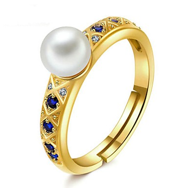 voordelige Dames Sieraden-Dames Ring 1pc Wit Zilver Cirkelvormig Standaard Modieus Festival Sieraden