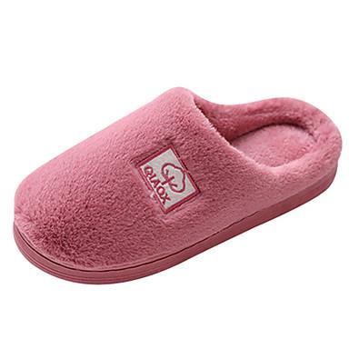 voordelige Damespantoffels & slippers-Dames Slippers & Flip-Flops Platte hak Ronde Teen Imitatiebont Informeel Winter Paars / Roze