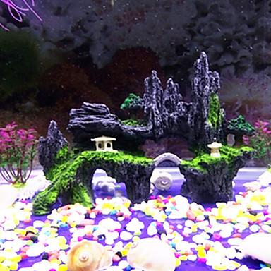 billige Tilbehør til fisk og akvarium-Akvarier Akvarium Dekorasjon 1 stk Tilbake Rowsenter Bridge Decor Pyntegjenstander Giftfri og smakløs Harpiks