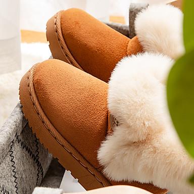 billige Fra 9 måneder - 4 år-Jente Semsket lær Støvler Toddler (9m-4ys) / Små barn (4-7år) Komfort / Sko til blomsterpiker Gange Svart / Gul / Rosa Vinter