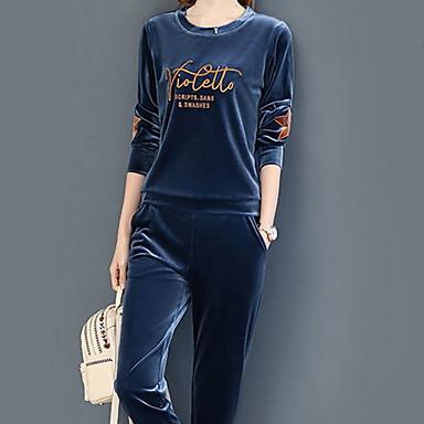 voordelige Nieuwe collectie-Dames Overhemd Pantalon Effen