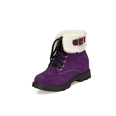voordelige Dameslaarzen-Dames Laarzen Verborgen hiel Ronde Teen Synthetisch Korte laarsjes / Enkellaarsjes Informeel Winter Zwart / Paars / Groen