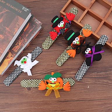 voordelige Dames Sieraden-Dames Armband Chunky Stel je voor Gepersonaliseerde Uniek ontwerp Standaard Europees Hippie Stof Armband sieraden Zwart / Wit / Oranje Voor Halloween Feestdagen Club Festival