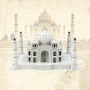voordelige 3D-puzzels-Educatief speelgoed Speeltjes Huis Taj Mahal professioneel niveau Papier EPS 87 Stuks