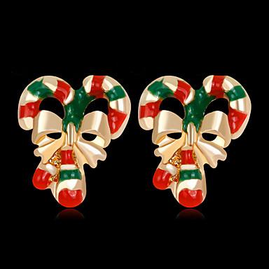 voordelige Dames Sieraden-Dames Oorknopjes 3D Kostbaar Modieus Verguld oorbellen Sieraden Regenboog Voor Kerstmis Feest Lahja Festival 1 paar