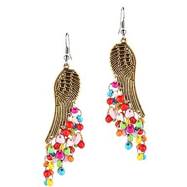 voordelige Dames Sieraden-Dames Druppel oorbellen Kwastje Engelenvleugels Etnisch oorbellen Sieraden Blauw / Regenboog Voor Dagelijks 1 paar