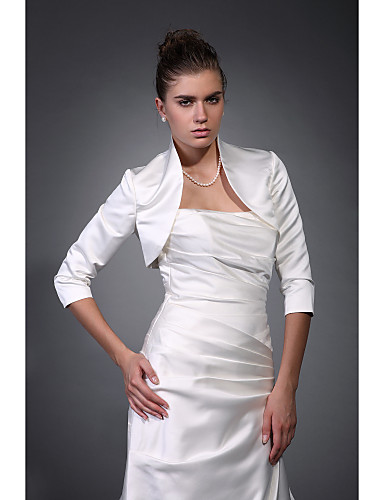 cheap Weddings & Events Clearance-Satin Wedding / Party Evening Wedding  Wraps With Coats / Jackets