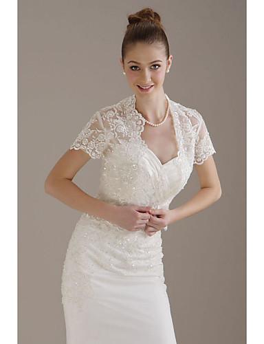 kurze Ärmel Tüll Braut Jacke / Hochzeit Wrap (wsm0399)