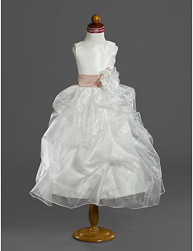 dd76ffccfb3 cheap Flower Girl Dresses-Ball Gown Tea Length Flower Girl Dress - Organza    Satin