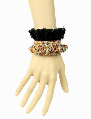 lana de exótico y pulsera de cordón