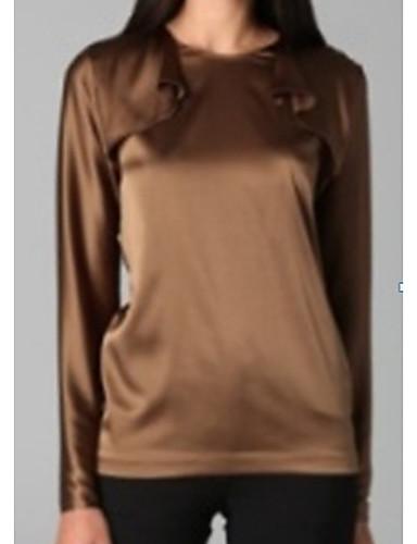 TS Stand Shoulder Basic Blouse Shirt