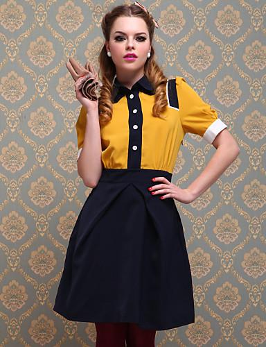 ts vintage style multi-kleur jurk