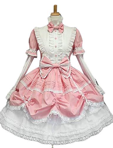 abordables Vestidos Lolita-Princesa Mujer Vestidos Rosa Lazo Tela de Encaje Accesorios de Lolita / Gosurori / Lolita Clásica y Tradicional / Punk