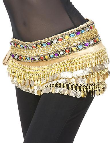 Dans din Buric Centură Pentru femei Poliester Paiete Monede Natural
