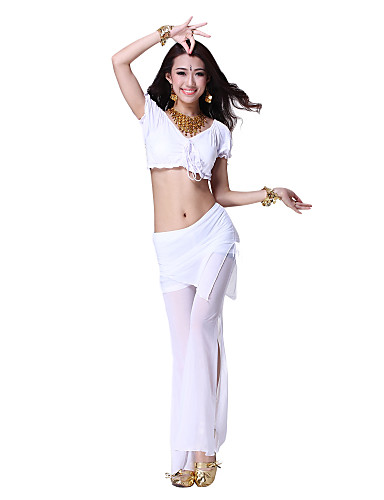 Dancewear Viscose Belly Dance Top and Bottom for Ladies More Colors