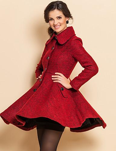 TS VINTAGE Lapel Ruffle Tweed Coat