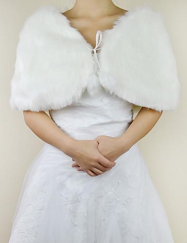 Süße Faux Fur Evening / Wedding Shawl