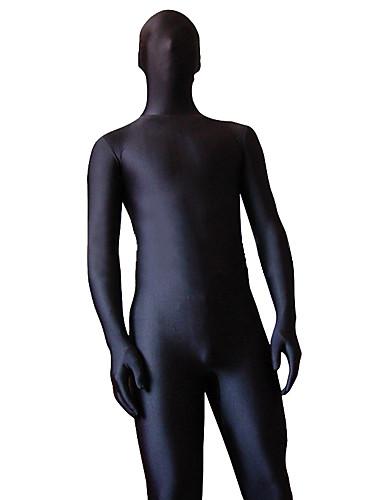 Χαμηλού Κόστους Zentai-Στολές Zentai Ολόσωμη εφαρμοστή στολή ήρωα Κοστούμια Ολόσωμα κοστούμια Ninja Ενηλίκων Στολές Ηρώων Φύλο Μαύρο Μονόχρωμο Σπαντέξ Λύκρα Ανδρικά Γυναικεία Halloween / Υψηλή Ελαστικότητα