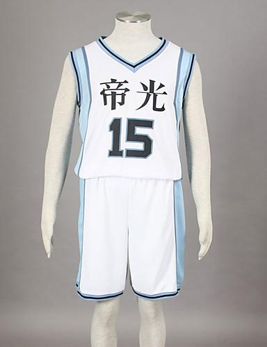 levne Cosplay a kostýmy-Inspirovaný Kuroko no Basket Kagami Taiga Anime Cosplay kostýmy japonština Cosplay šaty Tisk Bez rukávů Vesta / Kraťasy Pro Pánské