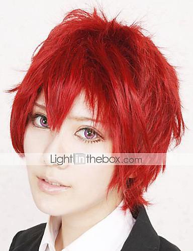 Cosplay Wigs Naruto Sasori Red Anime Cosplay Wigs 12 inch Heat Resistant  Fiber Men s Halloween Wigs 98b6f76a17