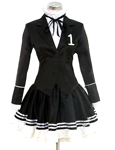 abordables Disfraces de Videojuegos-Inspirado por Vocaloid Hatsune Miku Vídeo Juego Disfraces de cosplay Trajes Cosplay / Vestidos Un Color Manga Larga Pañuelo Chaqueta Camisas Disfraces